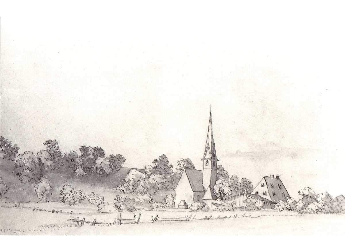 Zeichnung von einem Dorf