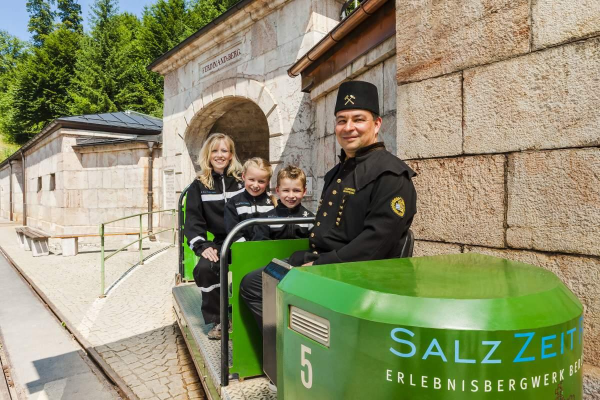 Besucherbahn im Salzbergwerk Berchtesgaden