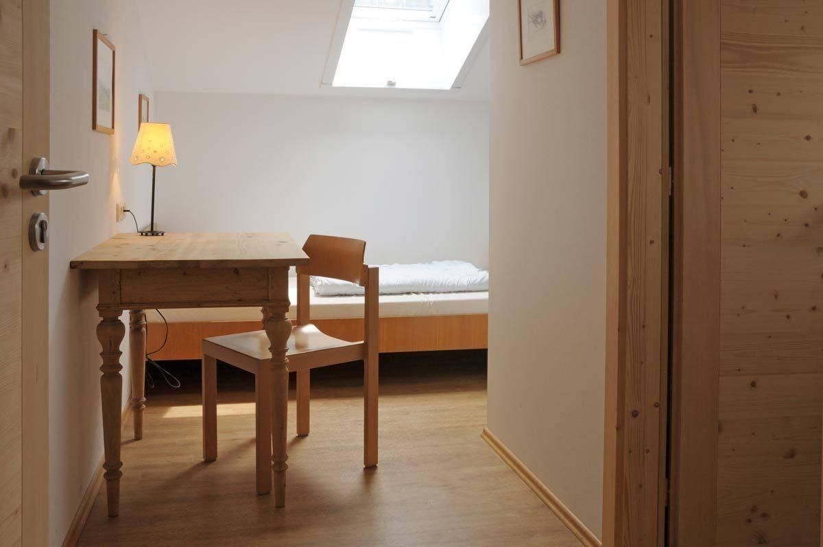 Einzelzimmer im Jugendhaus Haslau ©Jugendhaus