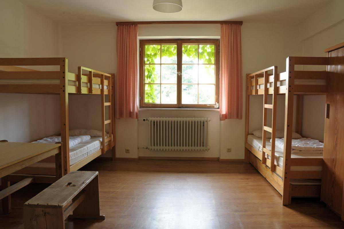 Jugendhaus Haslau Mehrbettzimmer ©Jugendhaus