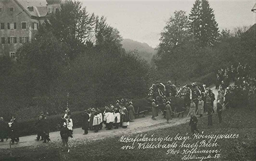 Überführung des bayrischen Königspaares
